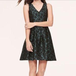 Emerald animal print dress